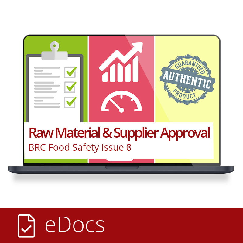 BRC Food - Raw Matrial and Supplier Approval