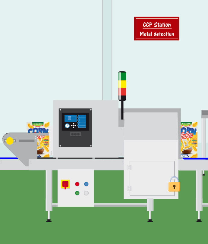 Snacks Metal Detection